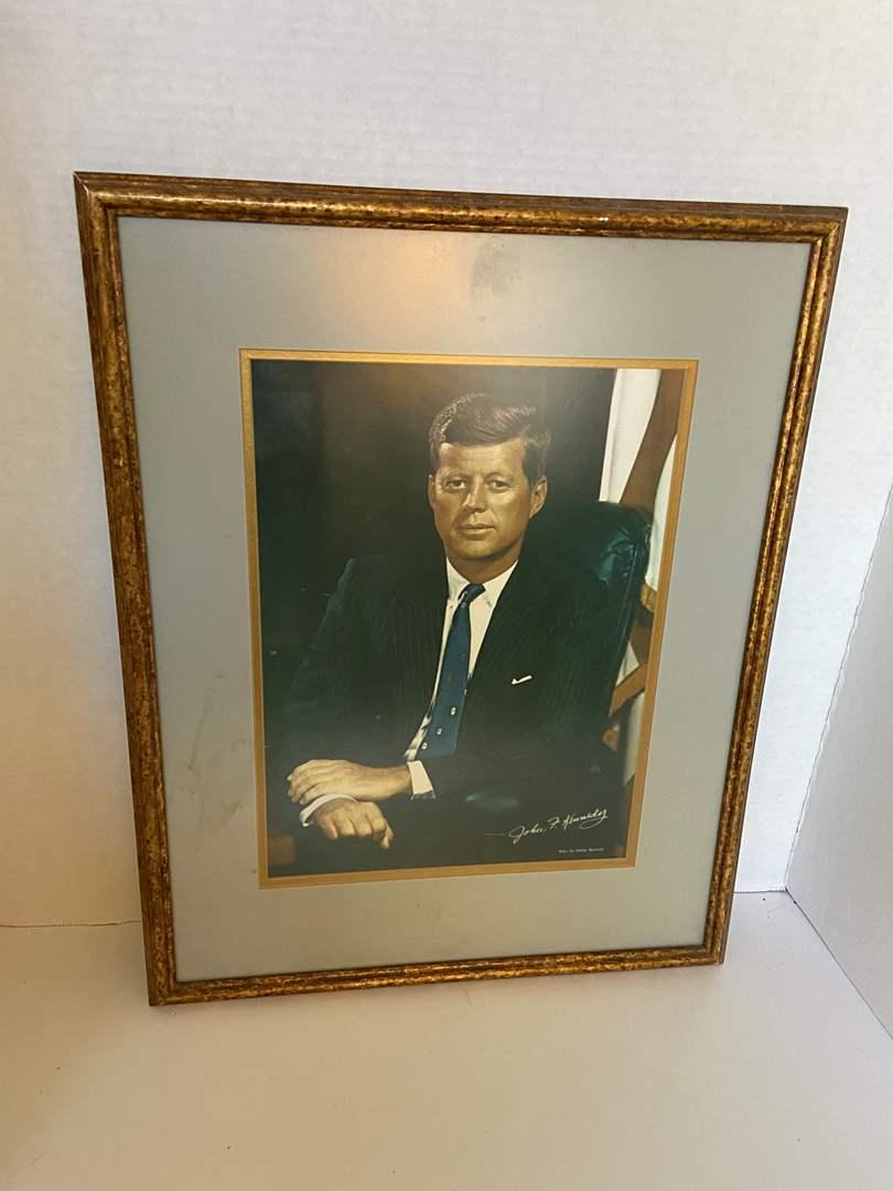 Lot # 75 JFK Framed Portrait