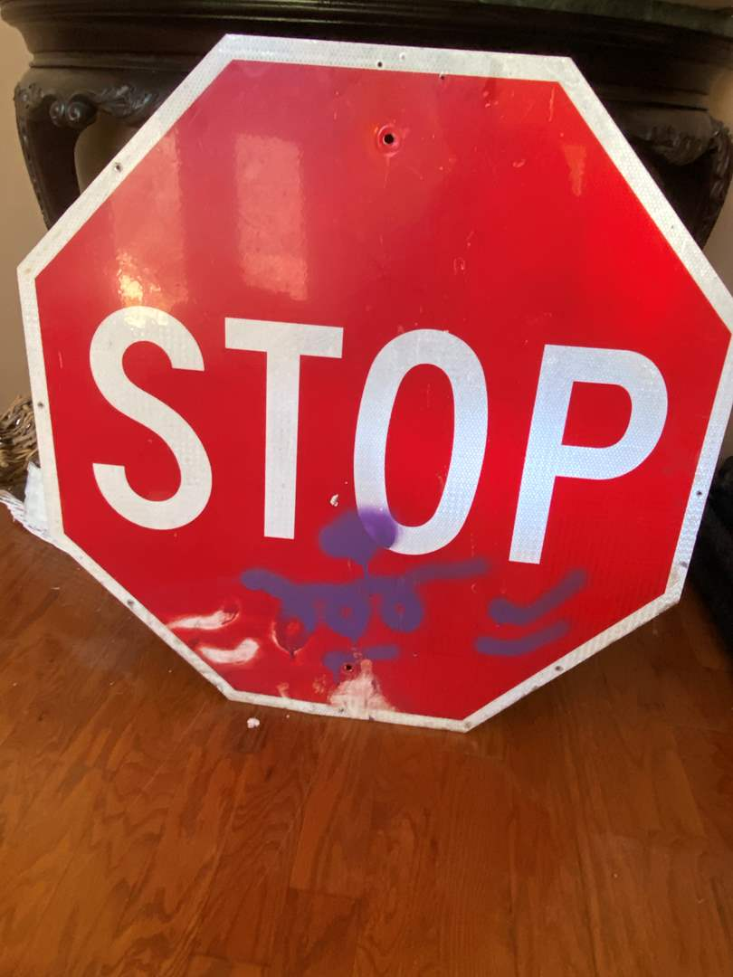 Lot # 78 STOP Sign