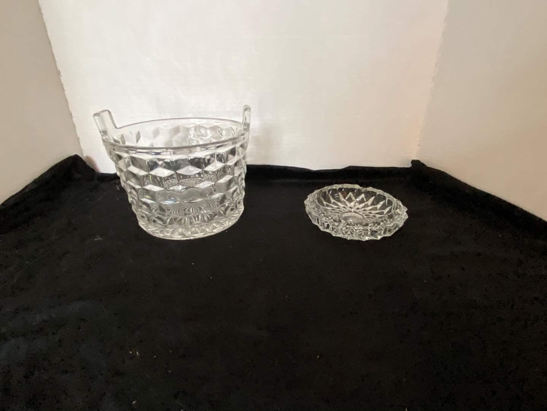 Lot # 91 Cut Glass Ice Bucket & Ashtray