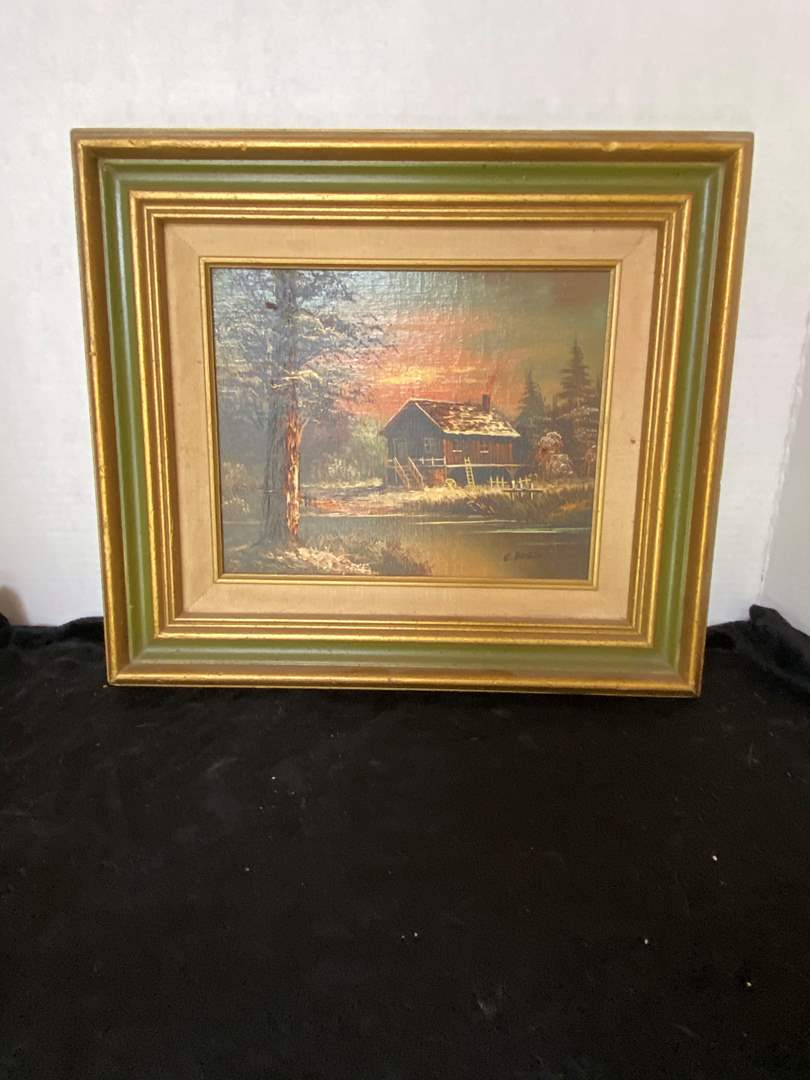 Lot # 99 Signed C. Bosco Oil on Canvas Painting Frame
