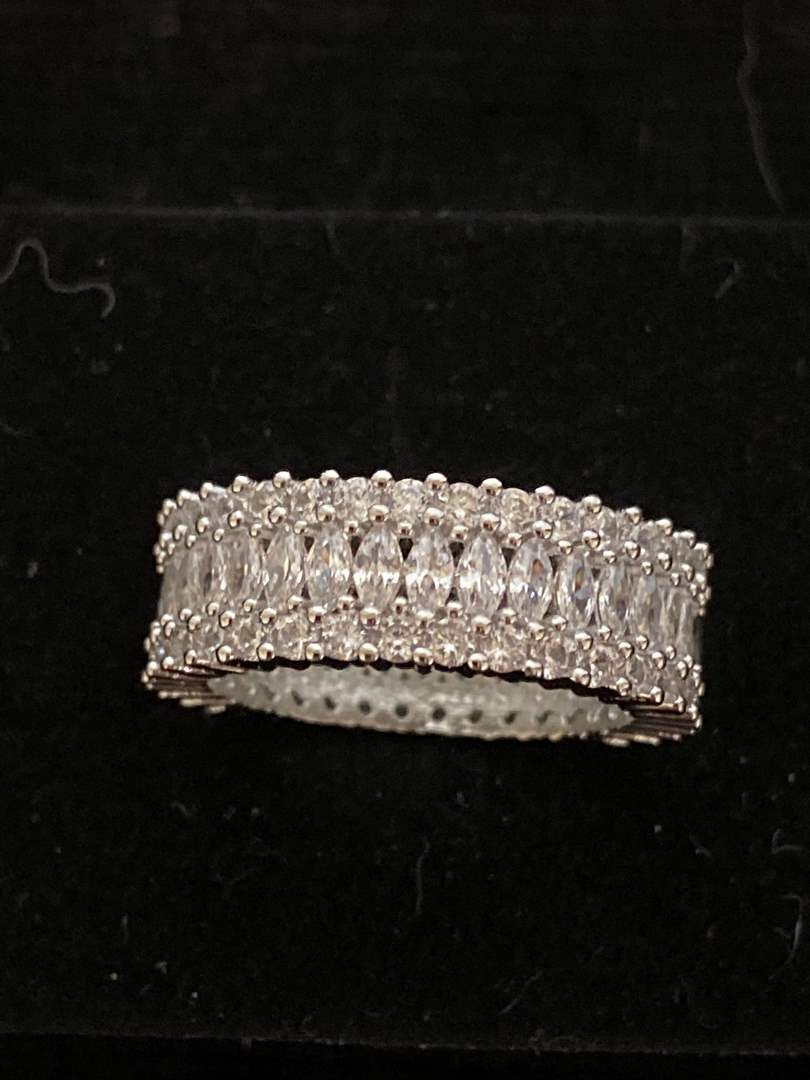 Lot # 109 Sterling Silver Eternity Ring - Size 6