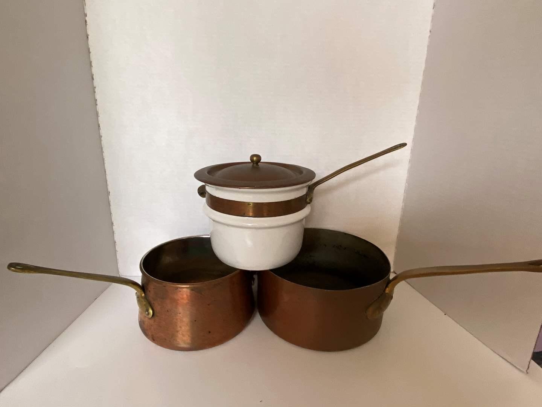 Lot # 122 Copper Pans (1 is Bazar Francais New York 666)