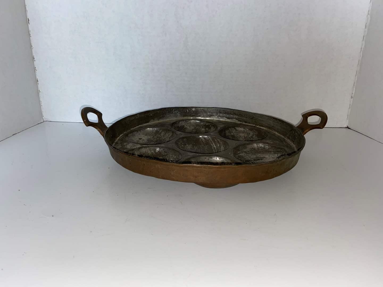 Lot # 130 Vtg Copper Biscuit Pan