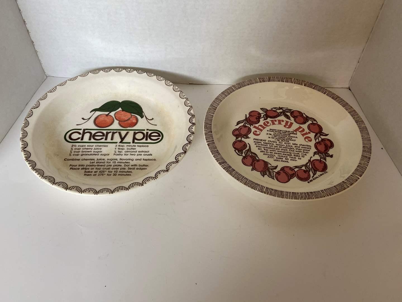 Lot # 132 (2) Cherry Pie Pie Plates