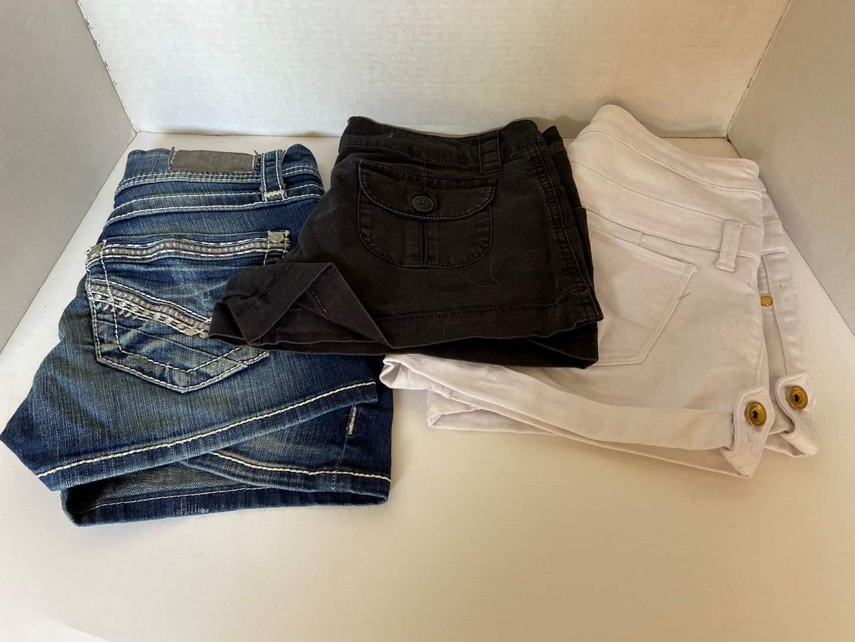 Lot # 143 (3) Pairs of Girls Jean Shorts