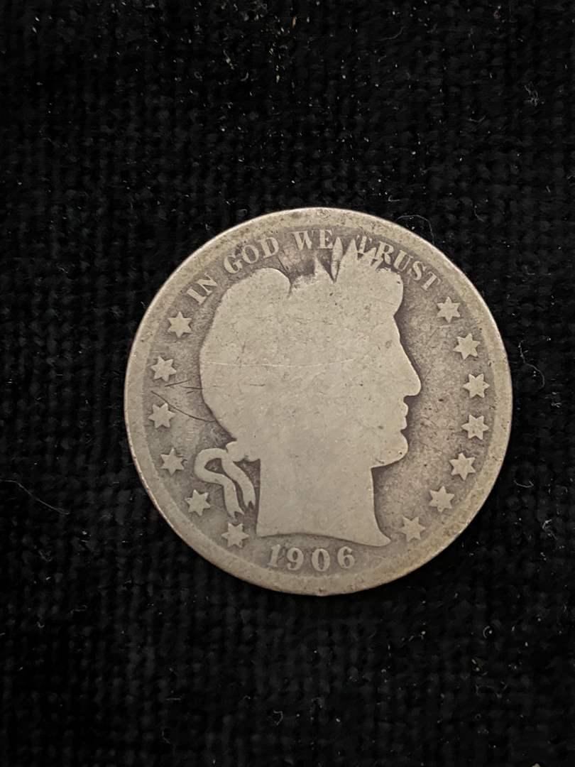 Lot # 149 1906-D Barber Half Dollar