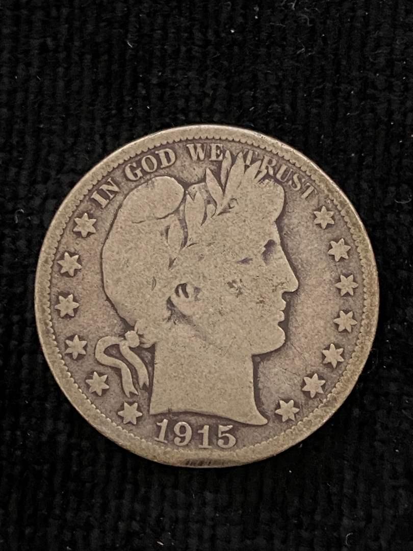 Lot # 151 1915-D Barber Half Dollar