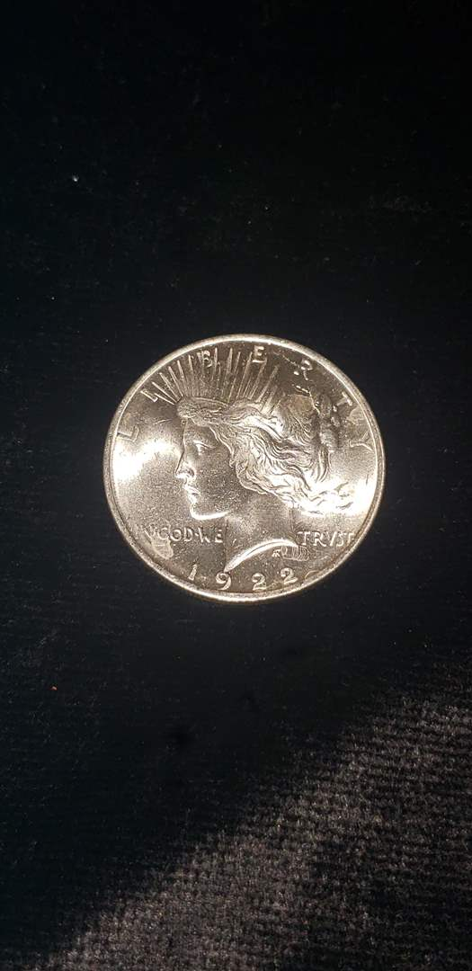 Lot # 161 1922 Silver Peace Dollar