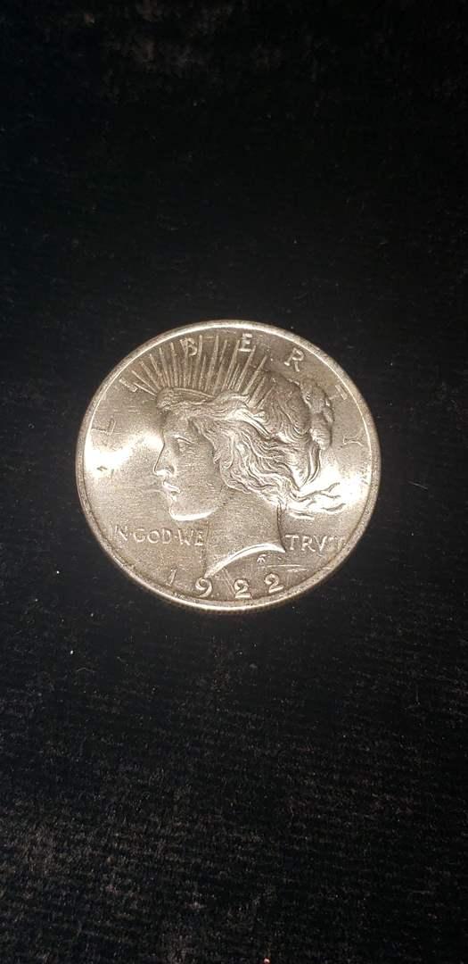 Lot # 162 1922 Silver Peace Dollar