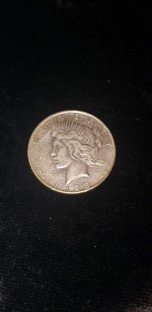 Lot # 165 1923-D Silver Peace Dollar