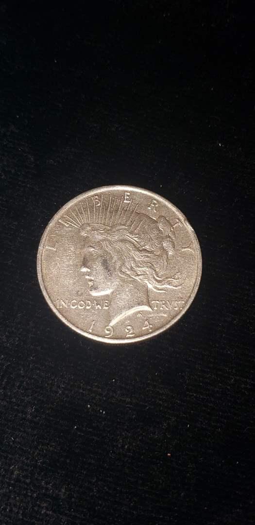 Lot # 166 1924 Silver Peace Dollar