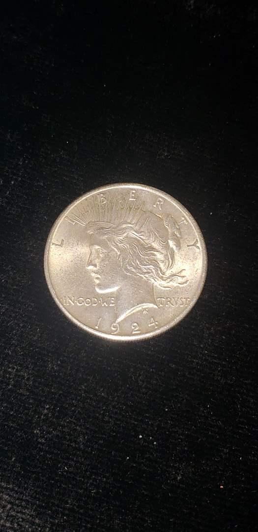 Lot # 167 1924 Silver Peace Dollar