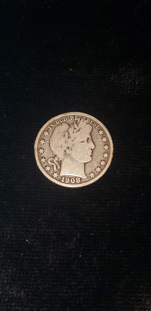 Lot # 169 1908 Barber Silver Half Dollar