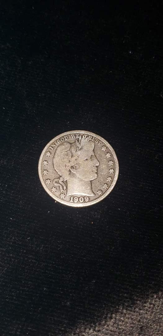 Lot # 172 1909 Barber Silver Half Dollar