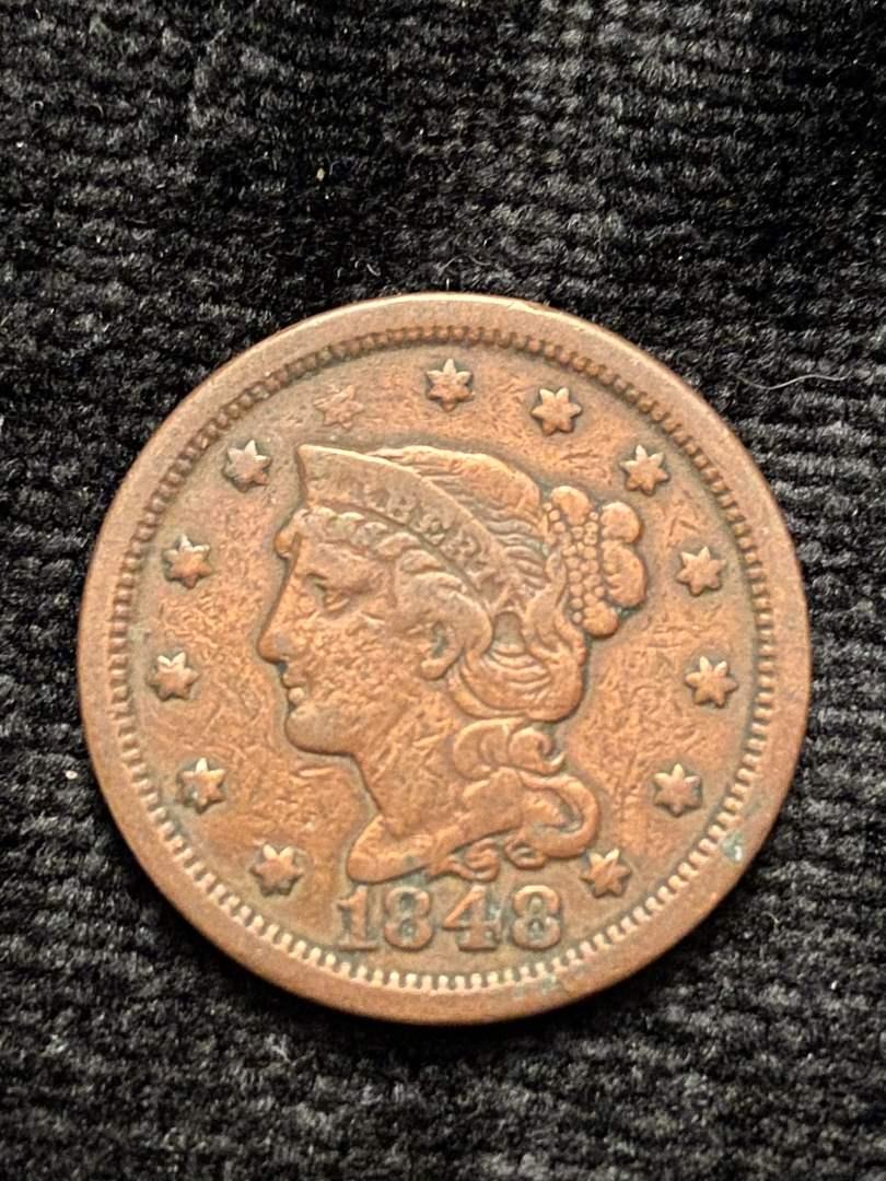 Lot # 201 1848 Large Cent