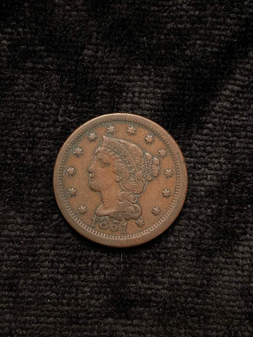 Lot # 202 1851 Large Cent