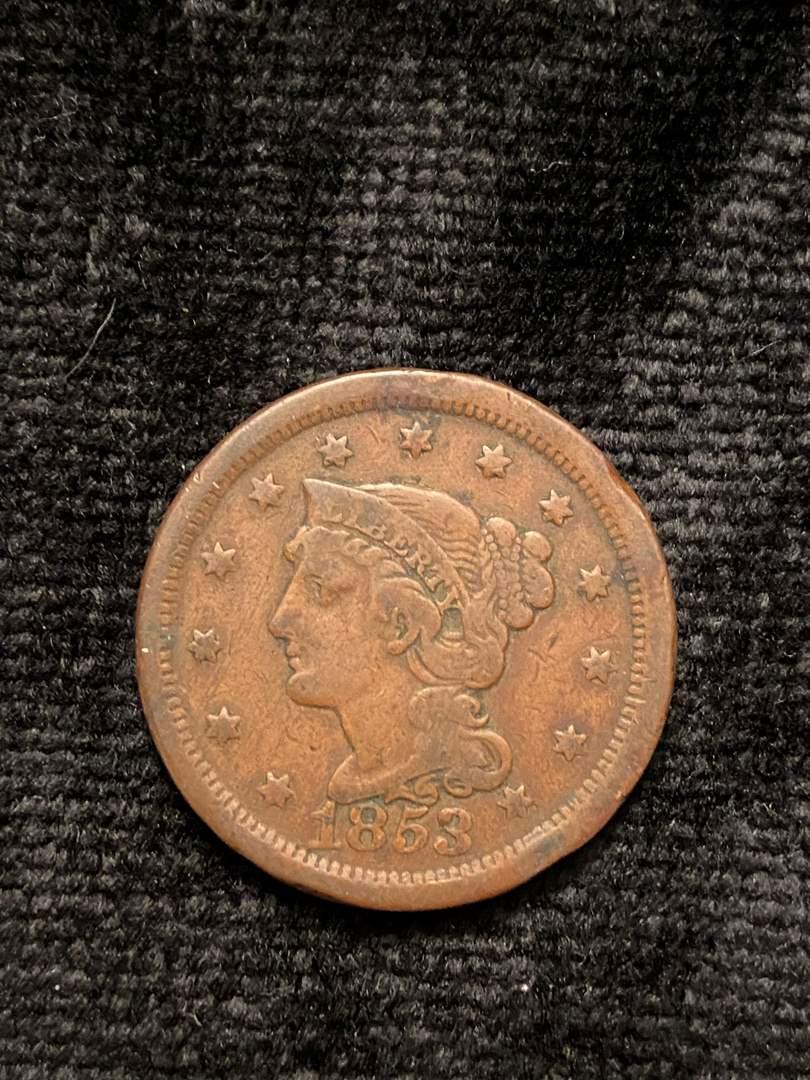 Lot # 204 1853 Large Cent