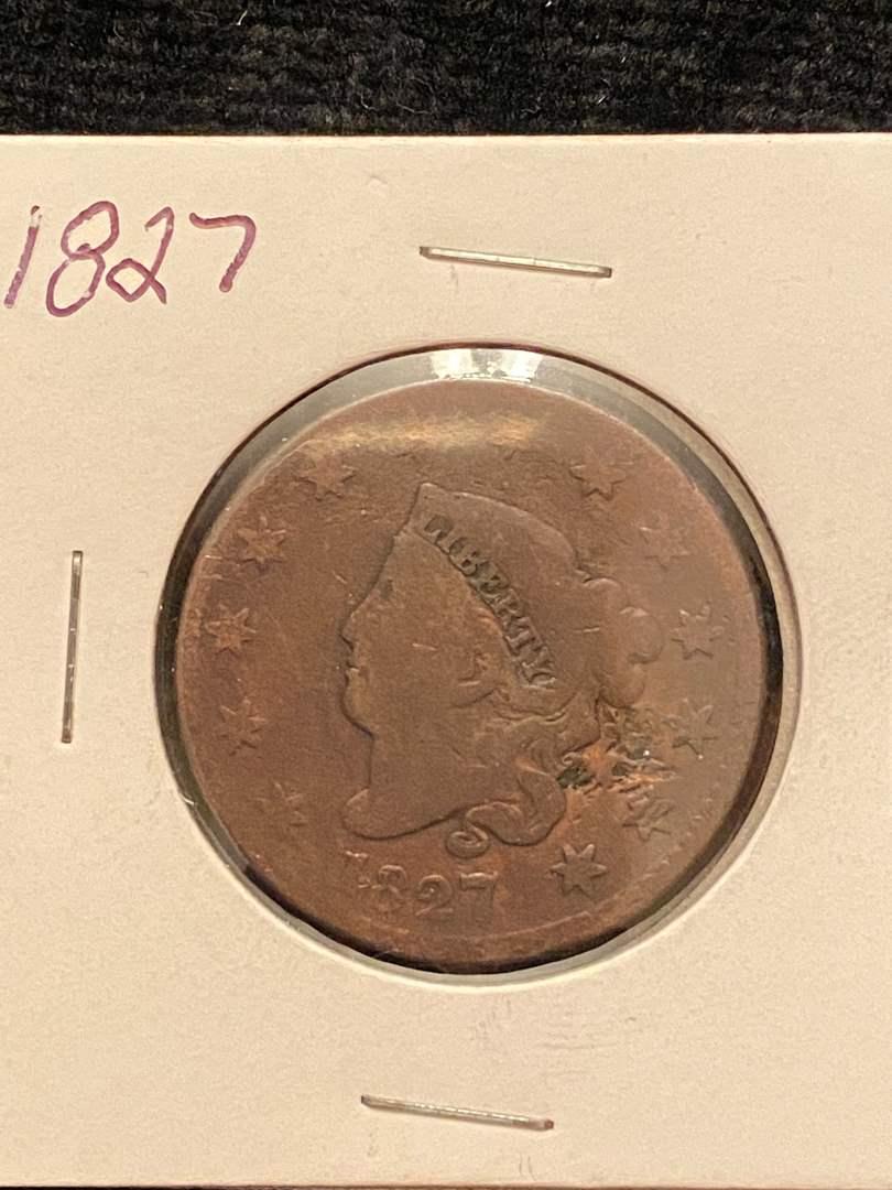 Lot # 205 1827 Large Cent