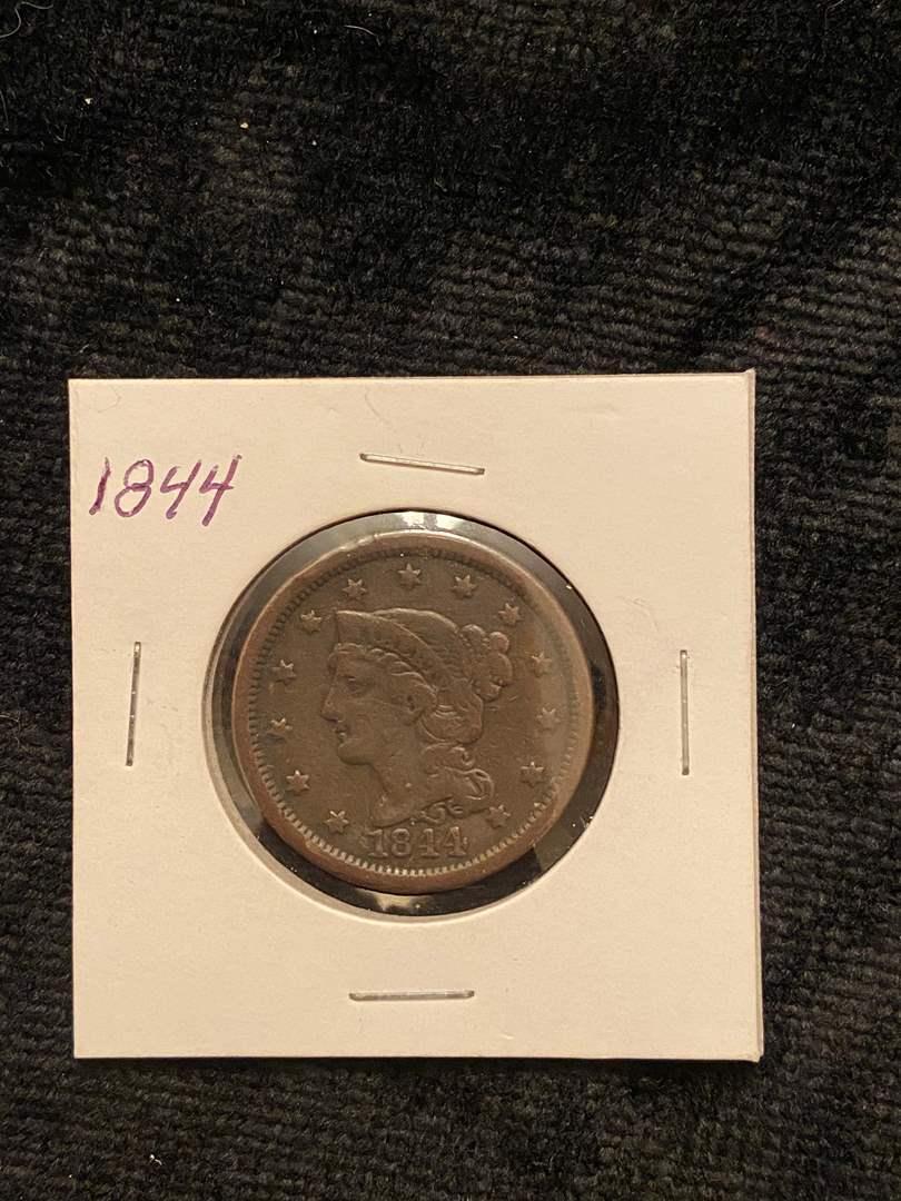 Lot # 206 1844 Large Cent