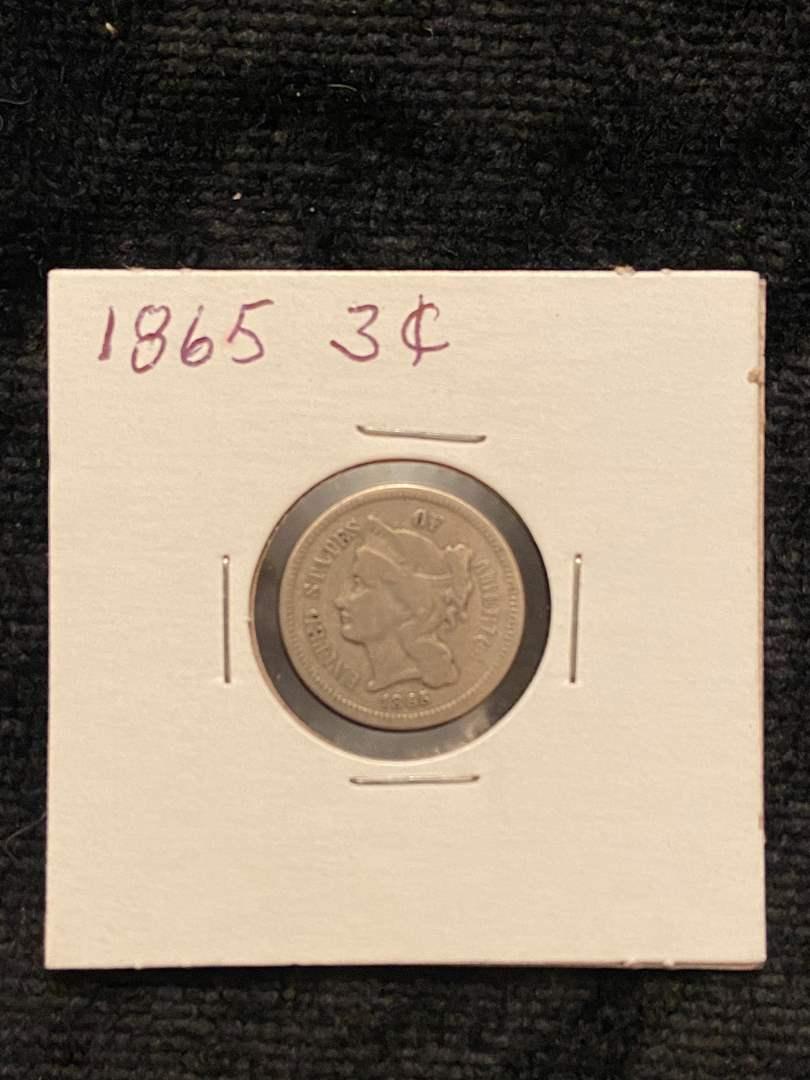 Lot # 207 1865 3 Cent