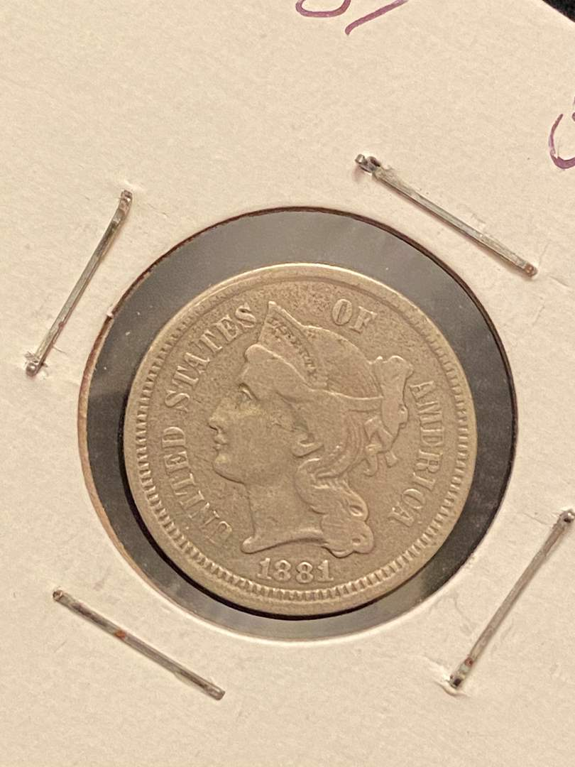 Lot # 208 1881 3 Cents
