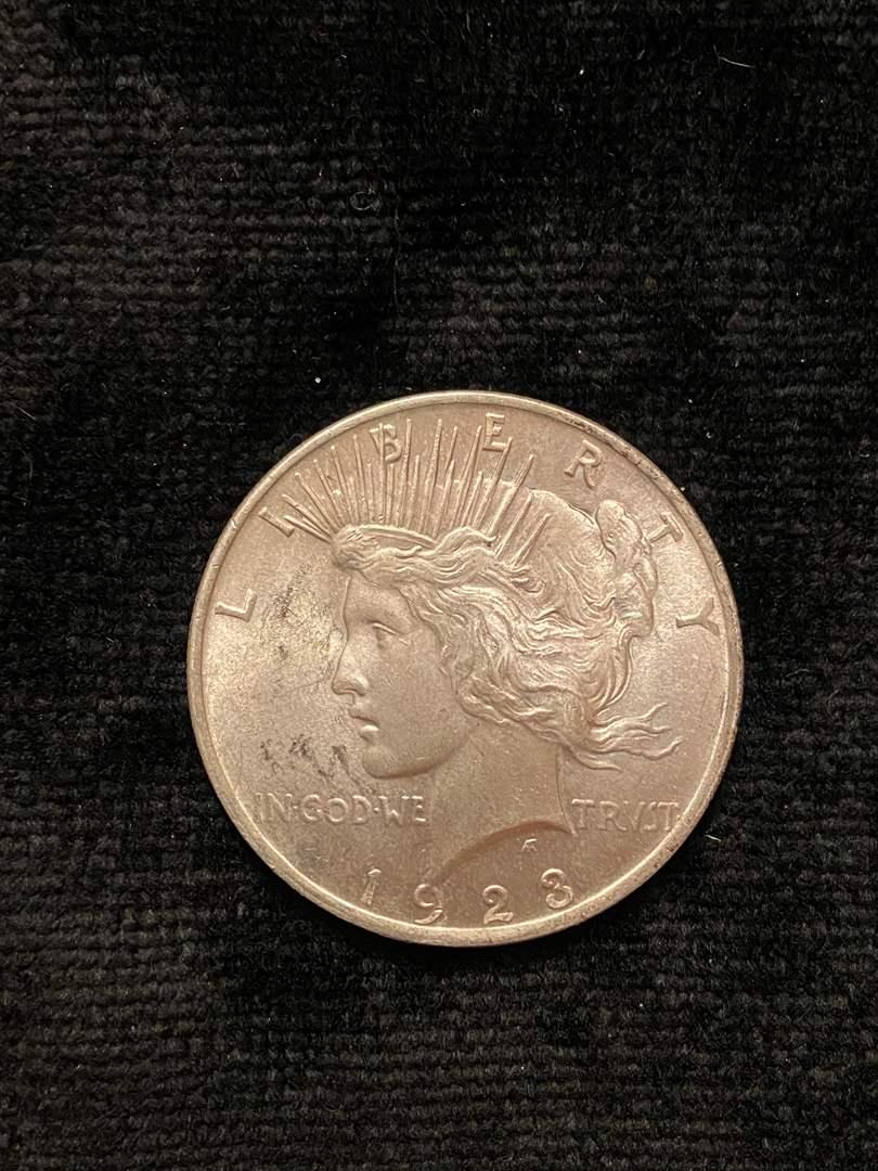 Lot # 216 1923 Peace Dollar