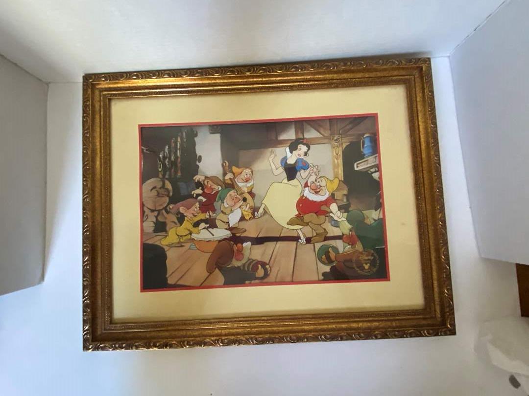 Lot # 222 Snow White Disney Commemorative 1994 Lithograph Framed