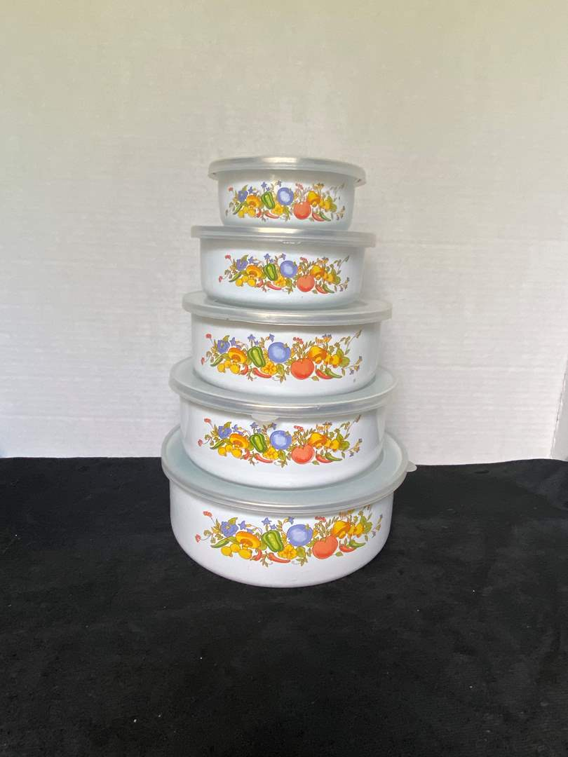 Lot # 238 Vtg Storage Containers