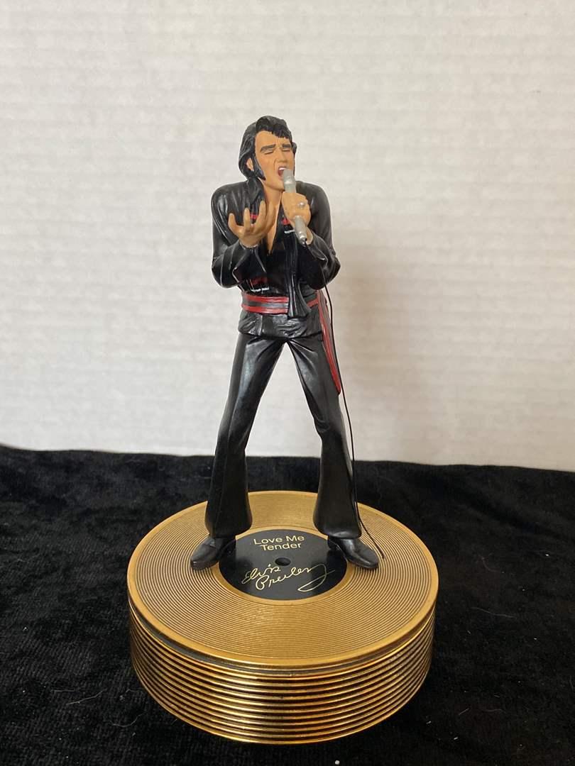Lot # 253 Ardleigh Elliott Elvis Presley Music Box Love Me Tender