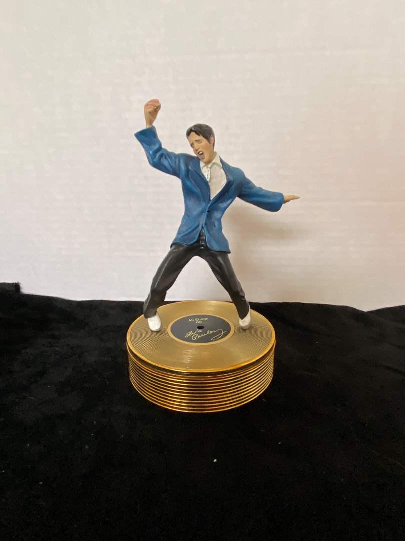 "Lot # 255 Ardleigh Elliott  Elvis Presley ""The Memphis Flash"", playing ""All Shook Up"" Music Box"