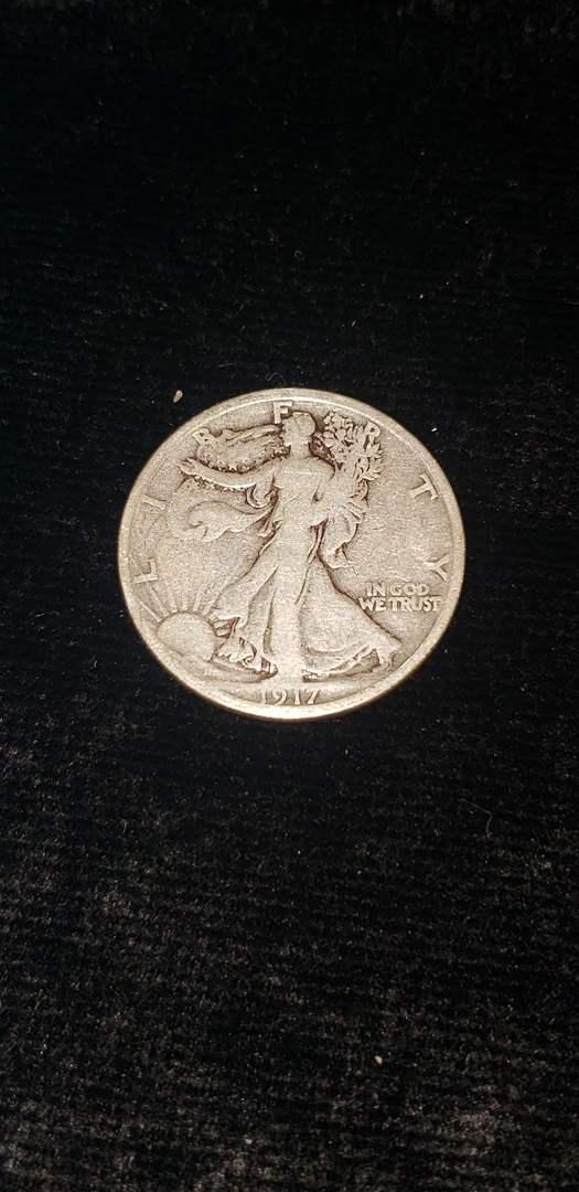 Lot # 262 1917-S Walking Liberty Silver Half Dollar