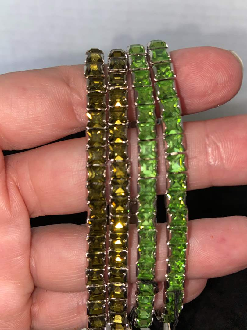 Lot # 283 (4) France-luxe & L. Erikson Swarovski Bracelets