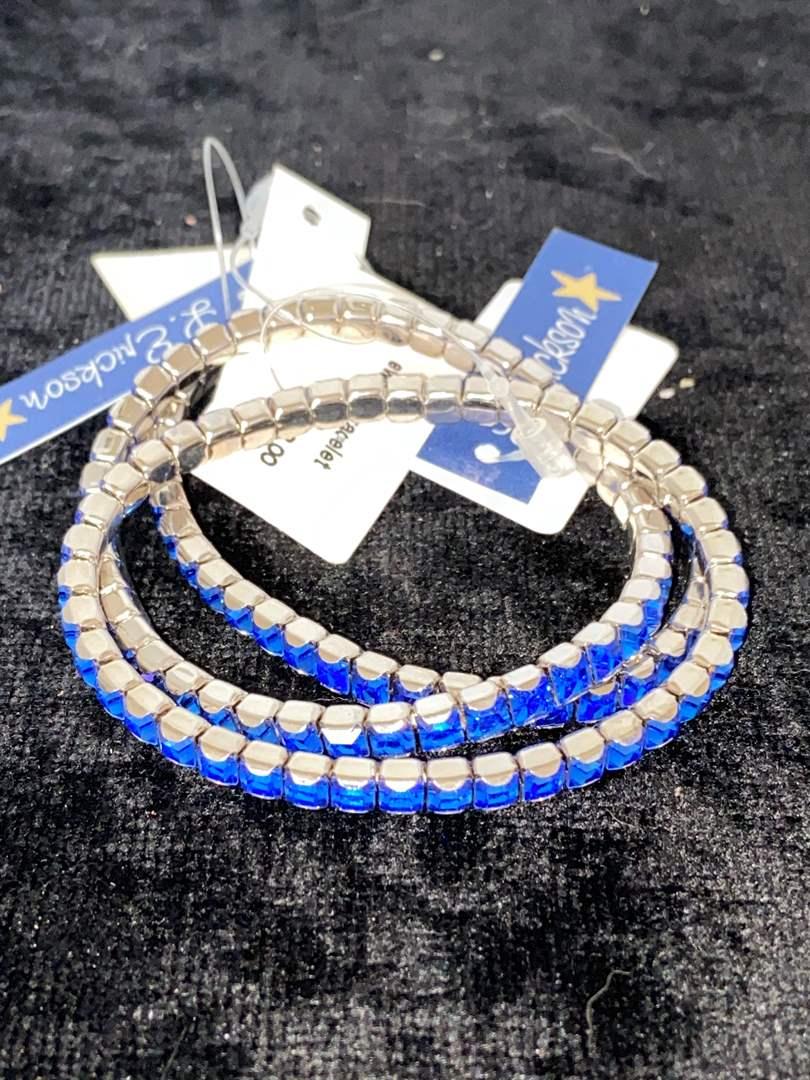Lot # 285 (3) L. Erikson Blue Swarovski Bracelets
