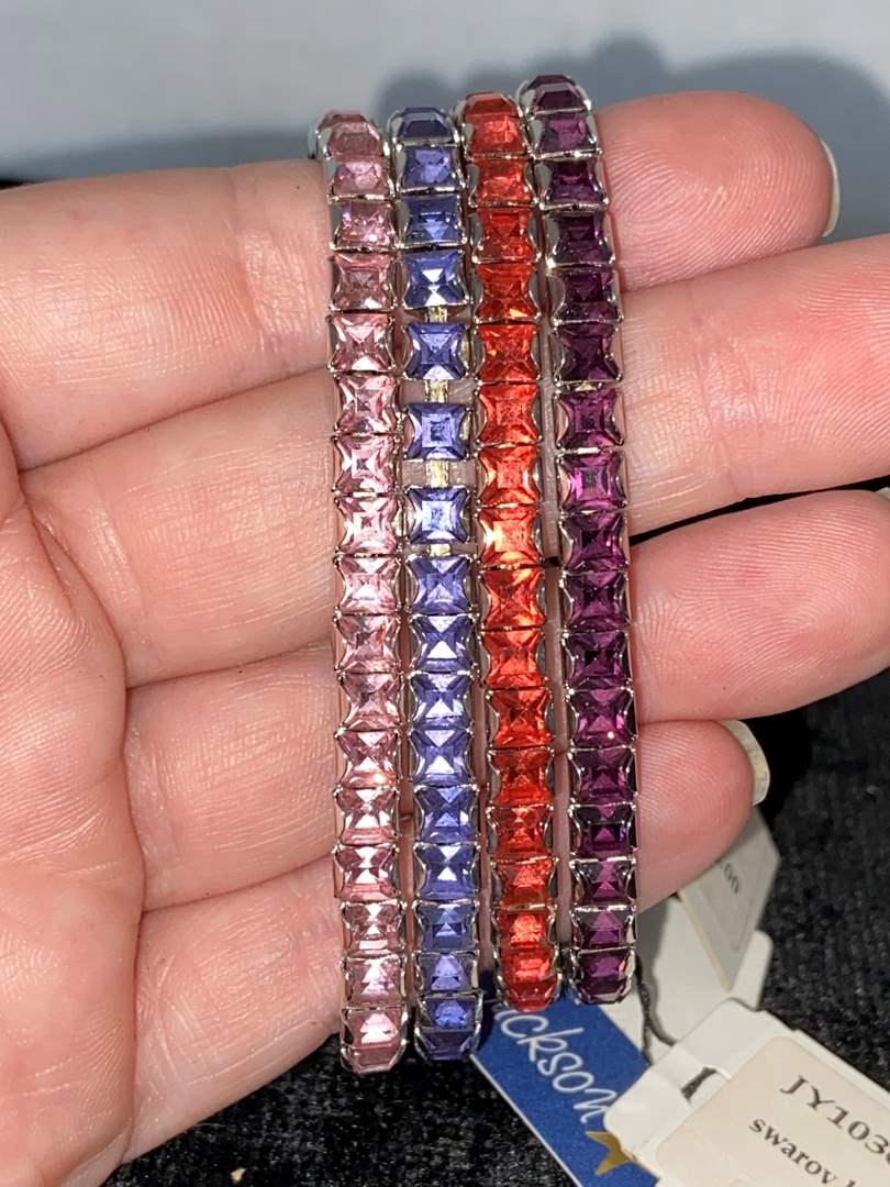 Lot # 286 (4) L. Erikson Swarovski Bracelets