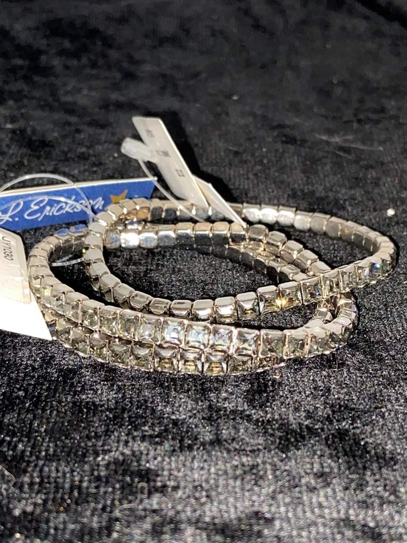 Lot # 287 (3) L. Erikson Swarovski Bracelets