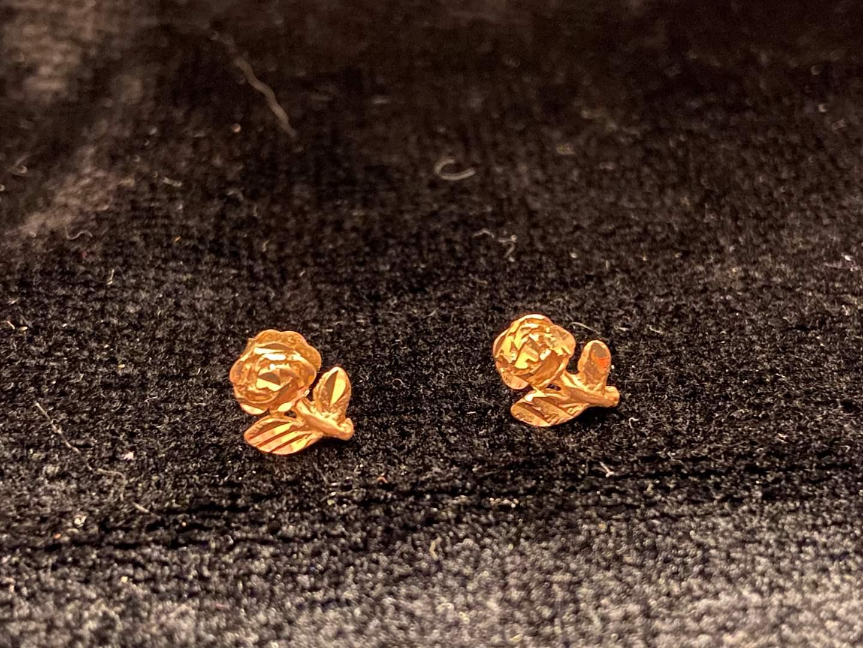 Lot # 289 14K Gold Earrings - Marked - TW is 1g