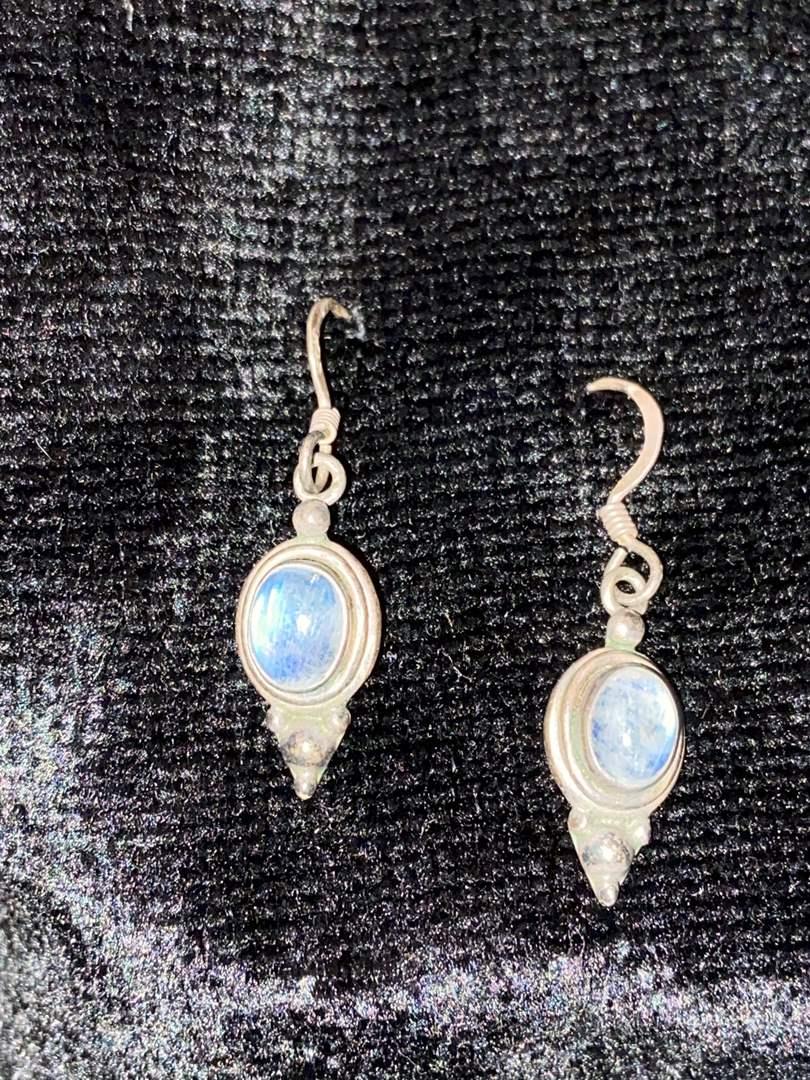 Lot # 297 Sterling Silver Earrings w/ Stone