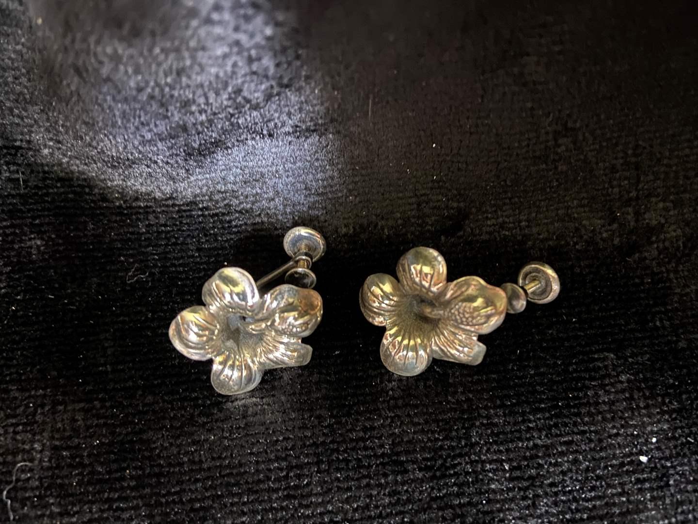 Lot # 298 Sterling Silver Clip on Earrings