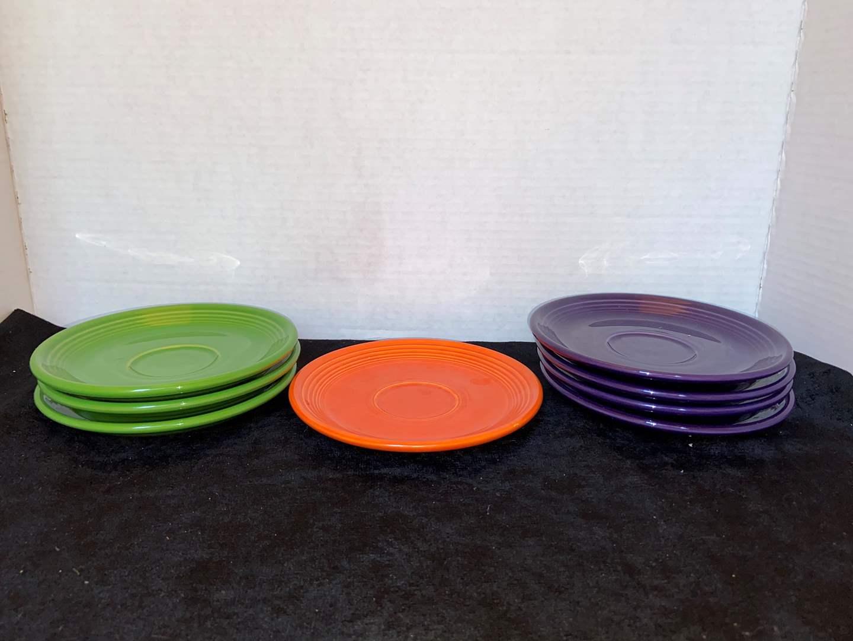 Lot # 322 (8) Fiesta Ware Saucers