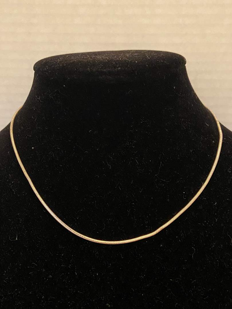 """Lot # 345 Sterling Silver Necklace 17"""" Stamped Italy"""