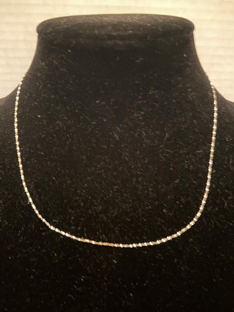 """Lot # 346 Sterling Silver Necklace Italy 18"""""""