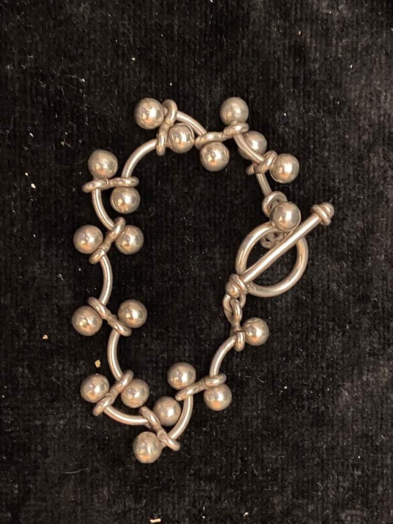 "Lot # 349 Sterling Silver Bracelet 8"""