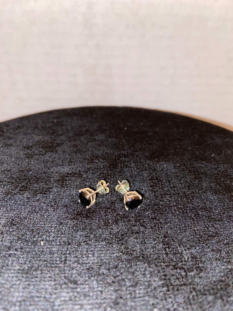 Lot # 350 Sterling Silver Earrings w/ Stone