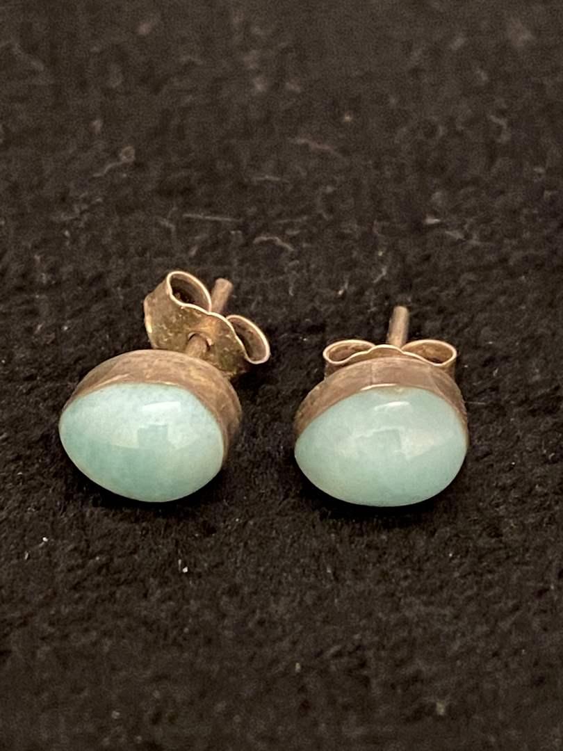 Lot # 351 Beautiful Sterling Silver Earrings w/ Stones