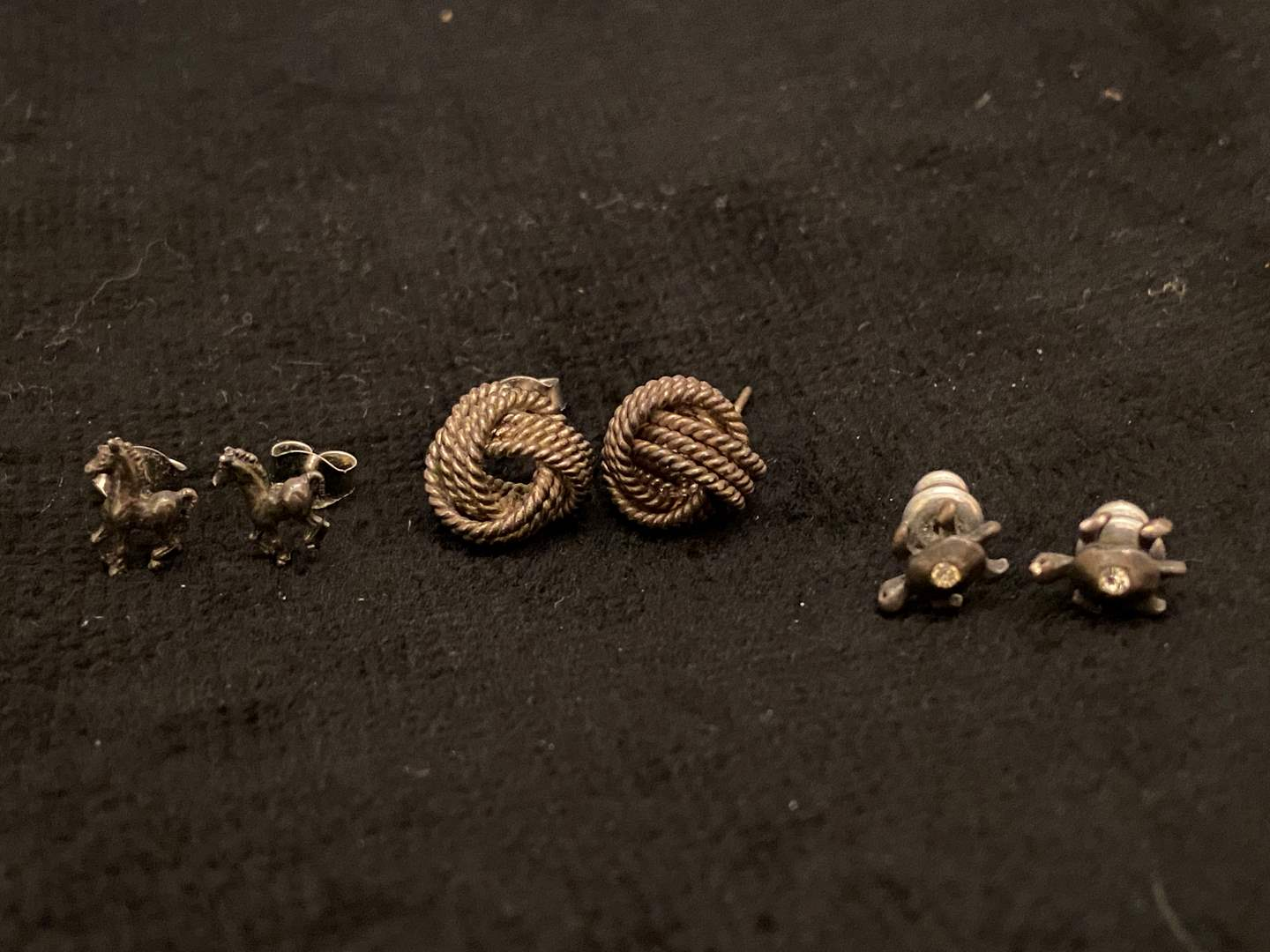 Lot # 352 (3) Pairs of Sterling Silver Earrings