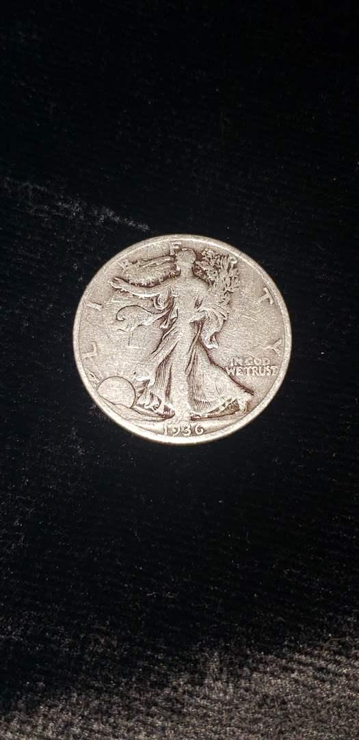 Lot # 360 1936 Walking Liberty Half Dollar