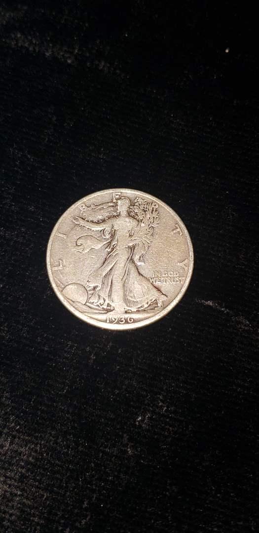 Lot # 361 1936-D Walking Liberty Half Dollar