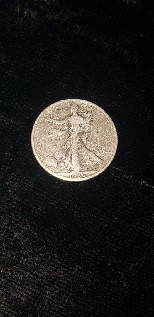 Lot # 362 1936-S Walking Liberty Half Dollar