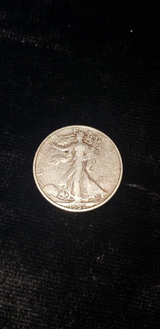 Lot # 364 1937-D Walking Liberty Half Dollar