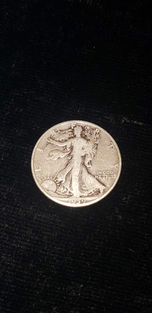 Lot # 366 1939-D Walking Liberty Half Dollar